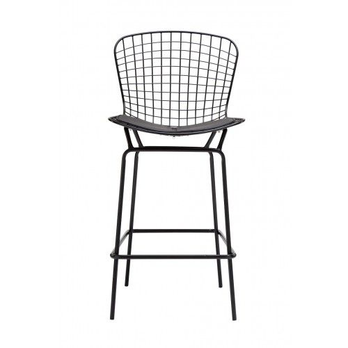 Harry Bertoia Wire Bar Stool replica in Black Powdercoat