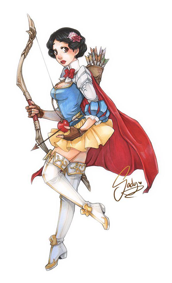 Snow White as a fantasy archer