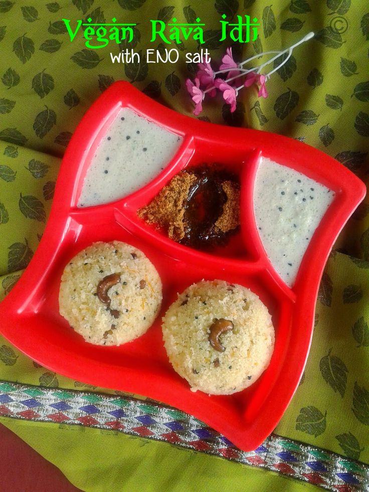 VEGAN RAVA IDLI WITH ENO FRUIT SALT I RAVA IDLI WITHOUT CURD