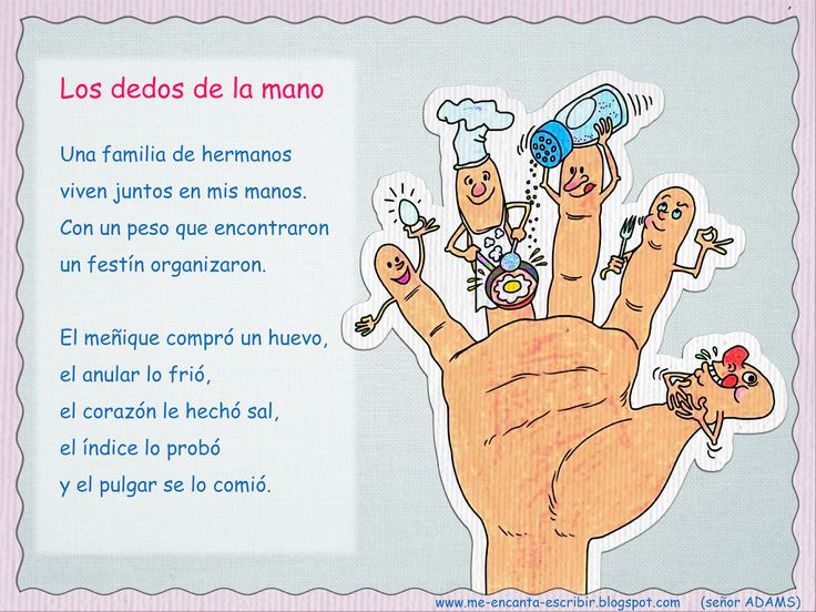 """Me encanta escribir en español: el cuerpo humano. Atención!!! algunos poemas contienen faltas de ortografía (Ej """"dedos de la mano"""" echó es sin hache)"""