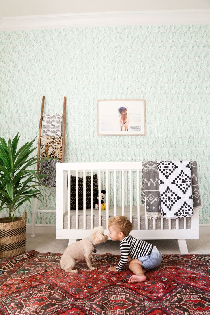 Baby Boy Nursery Boho Wallpaper Kaila Walls