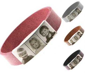 Voor mama's oma's tantes. Wie wil er nu niet zo'n gave armband met gegraveerde foto's van hun kleine engeltjes?