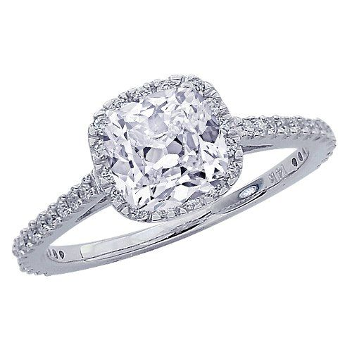 Save $4,880.00 on 1.15 Carat Gorgeous Classic Cushion Halo Style Diamond Engagement Ring with a 0.74 Carat Cushion Cut G Color SI2 Clarity Center Stone; only $2,030.00