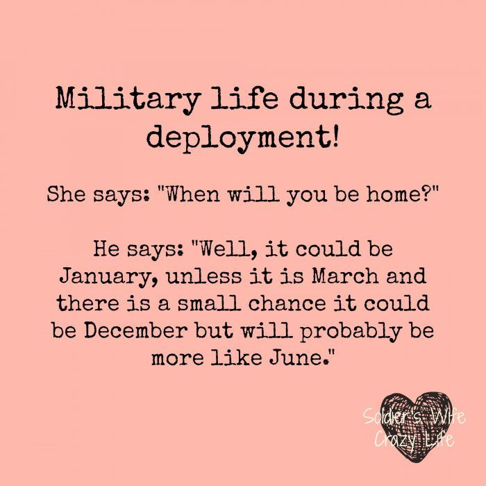 23 Memes That Explain What Going Through A Deployment is Really Like - Soldier's Wife, Crazy Life