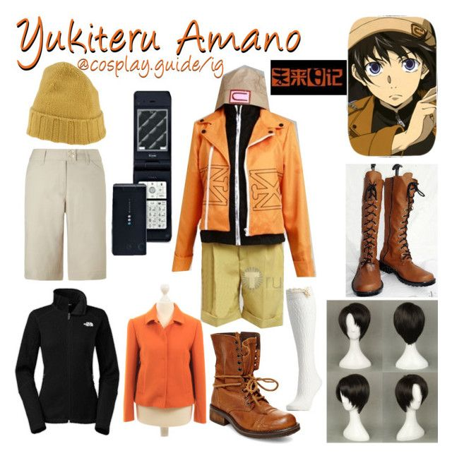 """""""Yukiteru Amano"""" by consultingpolyvorer ❤ liked on Polyvore featuring Steve Madden, GOYO, Charlotte Russe, Callaway, The North Face, Levi's and Dolce&Gabbana"""