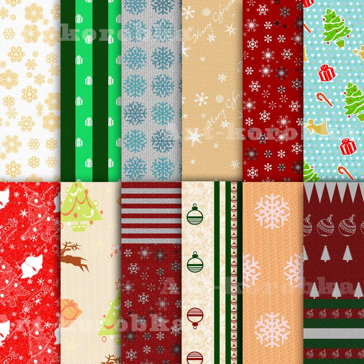 Christmas and New Year Digital paper, Holiday Backgrounds, New Year Backgrounds, Scrapbooking, commercial use by Artkorobka on Etsy