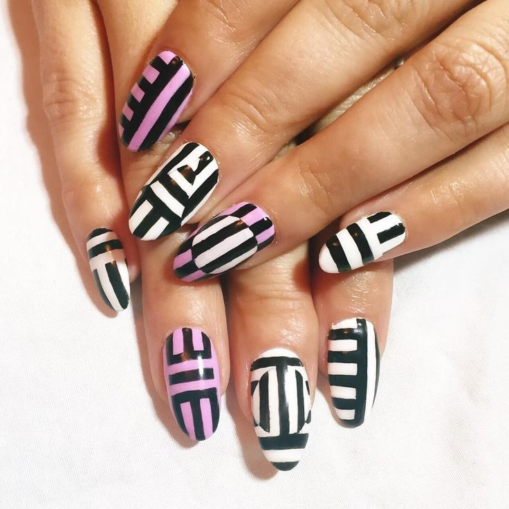 The #1 Nail Trend Blowing Up on Pinterest Right Now - Best 25+ Geometric Nail Art Ideas On Pinterest Nail Art, Fall