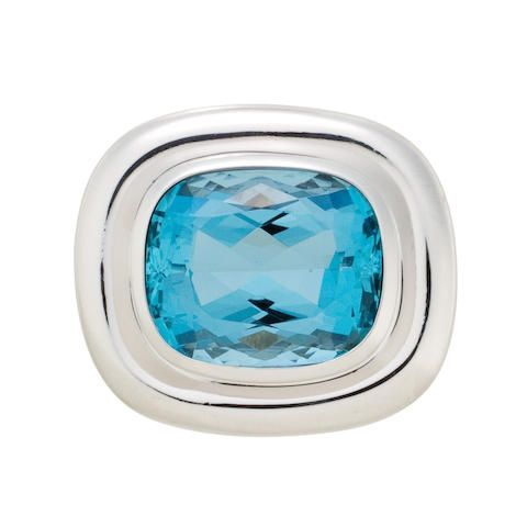 An aquamarine ring, Paloma Picasso for Tiffany & Co.