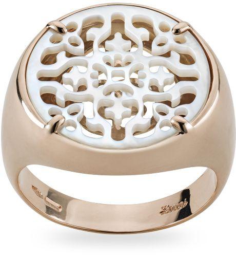 Anello in oro rose 18 kt. con - Zoccai gold ring