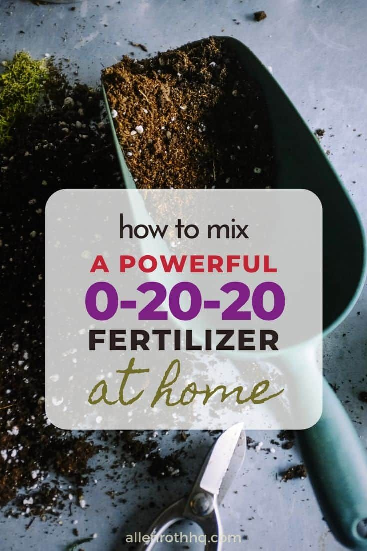 How To Mix 0 20 20 Fertilizer At Home In 2020 How To Dry Basil Make It Yourself Yard