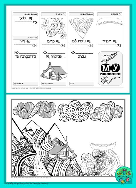 FREE Mihi/Pepeha template {1-cut-book} by Green Grubs Garden Club