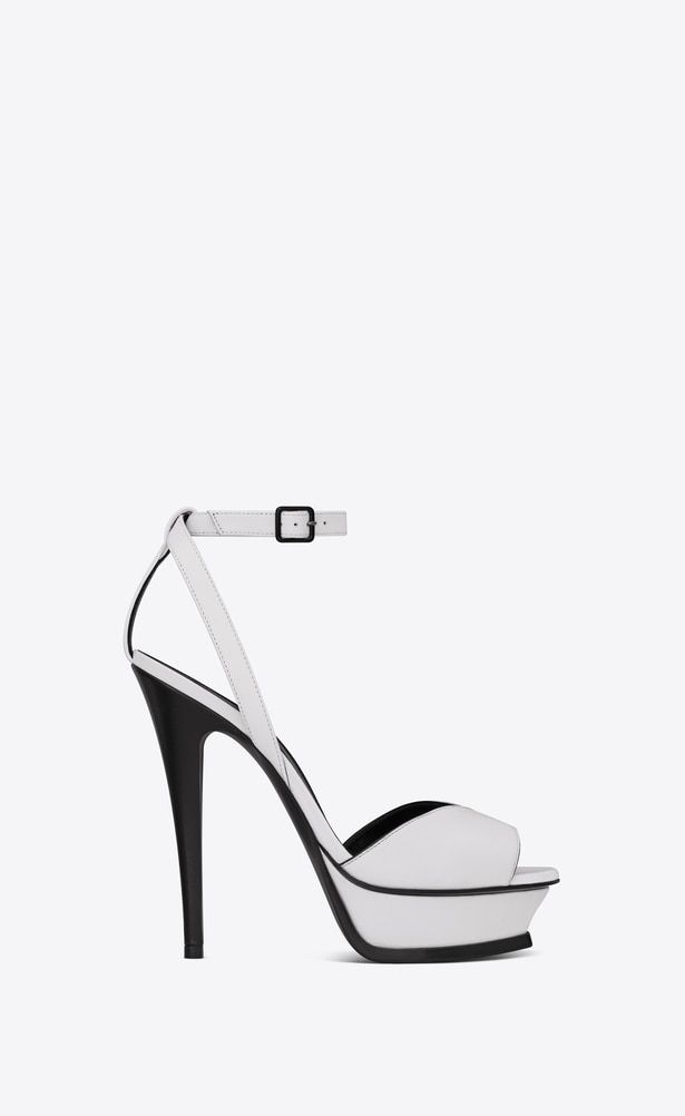 8215f371fc SAINT LAURENT Tribute Woman TRIBUTE 105 sandals with open toes in ...