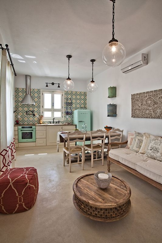 Architecture & Interior design by DESIGN LAB VI, traditional White House in Othos Karpathos, Greece. #designlabvi, #karpathos, #kitchen, #vintage tile backsplash kitchen  www.designlabvi.com