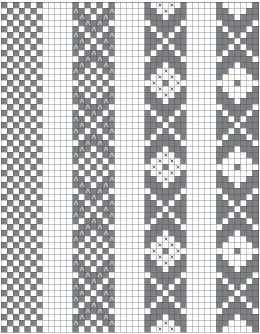 "Design basics for ""Baltic"" or ""speckled"" pick-up patterns. I highly recommend this article! #inkleweaving #inkle #pickup"