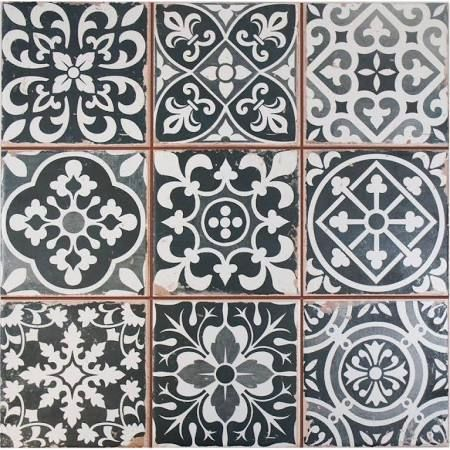 Merola Tile Faenza Nero 13 In. Ceramic Floor And Wall Tile Sq. / Case)  FPEFAEN At The Home Depot   Mobile