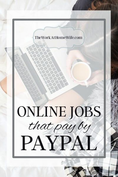 Great list of companies offering work from home and payment by PayPal