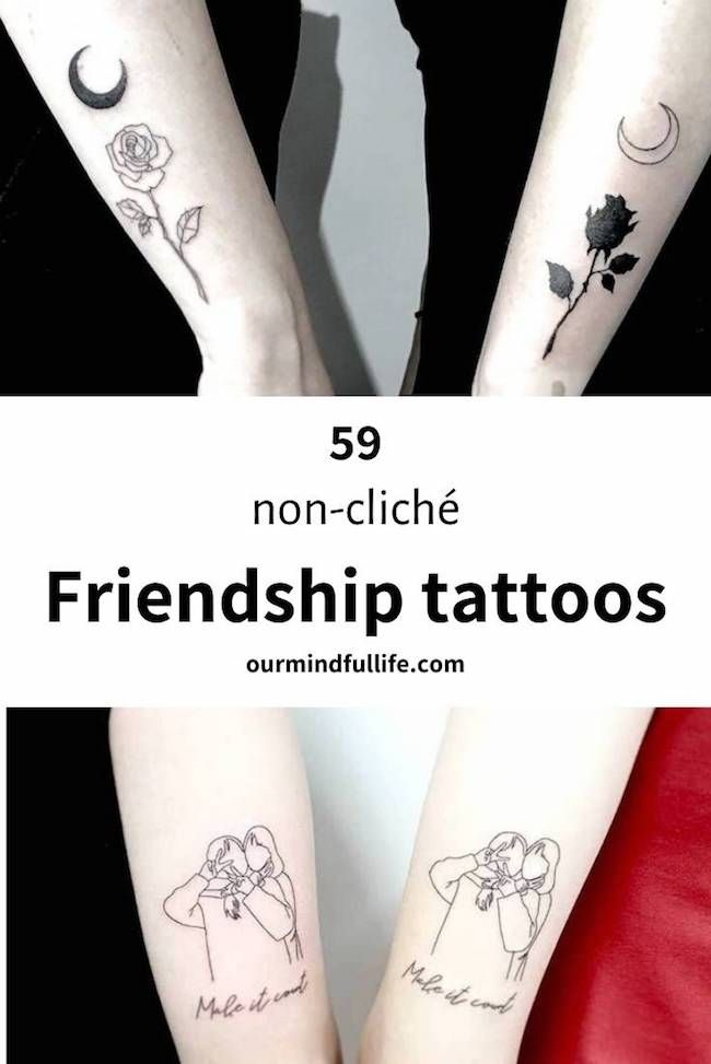 59 Adorable Matching Best Friend Tattoos To Get With Your Ride Or Die In 2020 Friendship Tattoos Matching Friendship Tattoos Matching Best Friend Tattoos