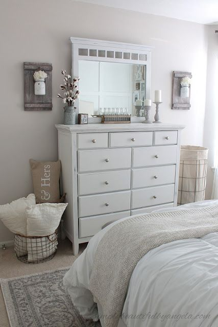 Simply Beautiful By Angela  Farmhouse Master Bedroom MakeoverBest 25  Farmhouse bedroom decor ideas on Pinterest   Farmhouse  . Farmhouse Bedroom. Home Design Ideas