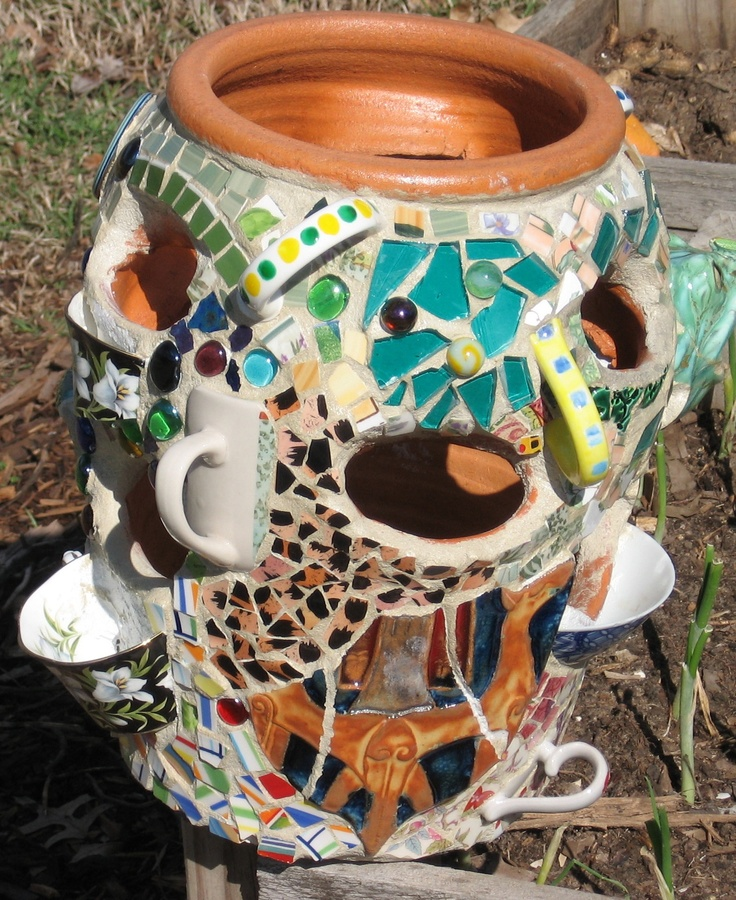 Mosaic Strawberry Pot By Mom