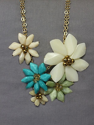 bold necklace using Tiffany blue fabulous!