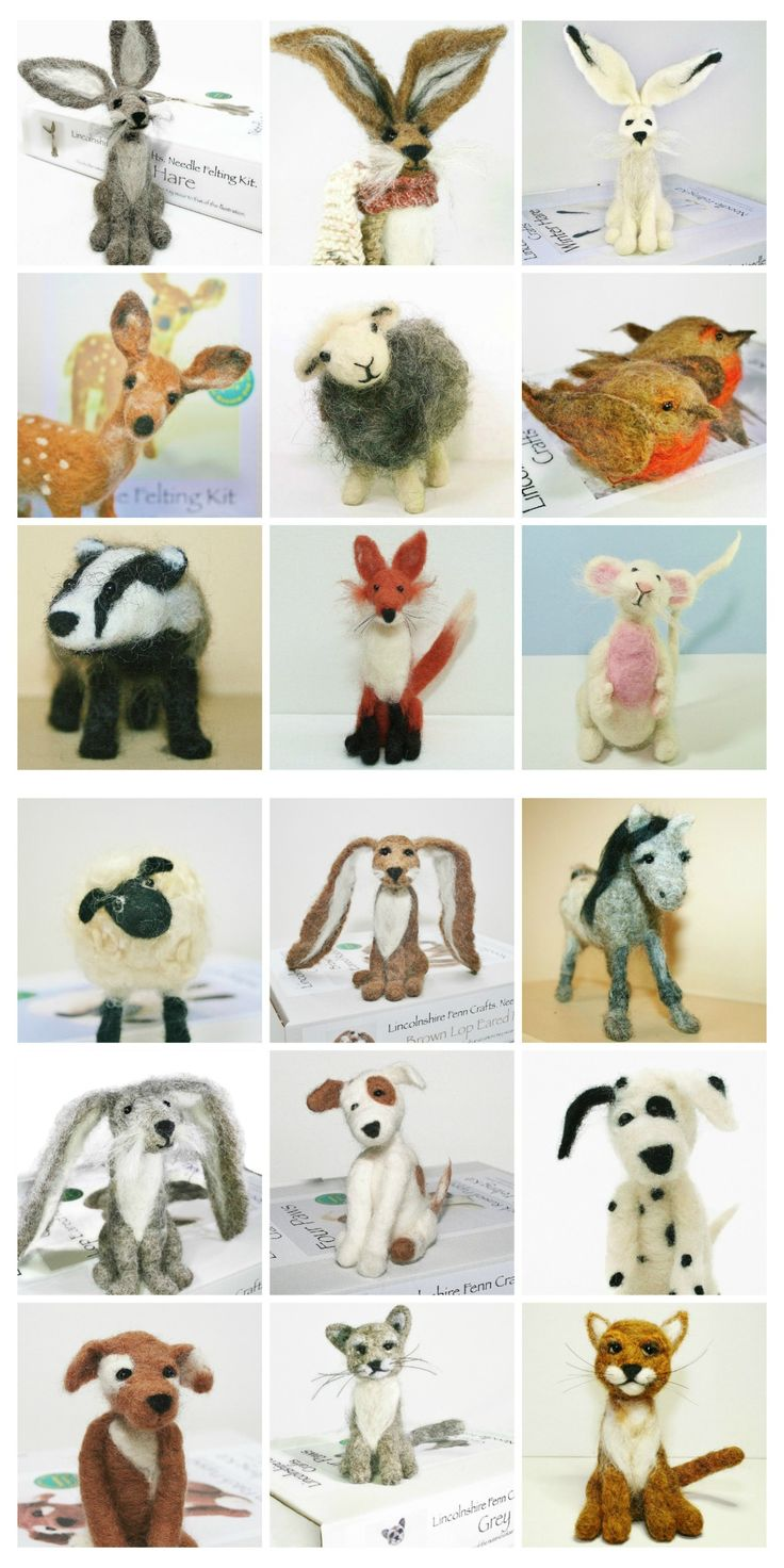Needle felting starter kits suitable for beginners, those wanting to improve their skills or simply just to create a unique handmade gift. The beauty of needle felting is that you need just one thing…enthusiasm! No tricky patterns. No sewing. No wires. No expensive fancy equipment.