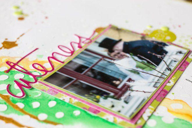 Cuteness - 12x12 Scrapbook layout by jenandtricks. Visit my blog at http://jenandtricks.com