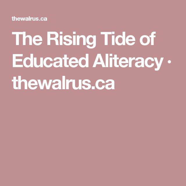 14 best article club a book club alternative images on pinterest the rising tide of educated aliteracy thewalrus fandeluxe Images