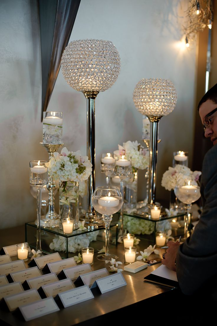 Place card table arrangements!