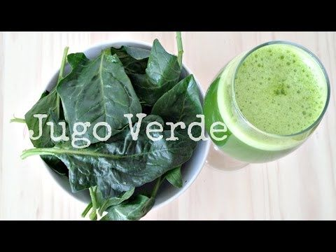 cómo hacer un jugo verde en la licuadora  #96 /How to make green juice in a blender