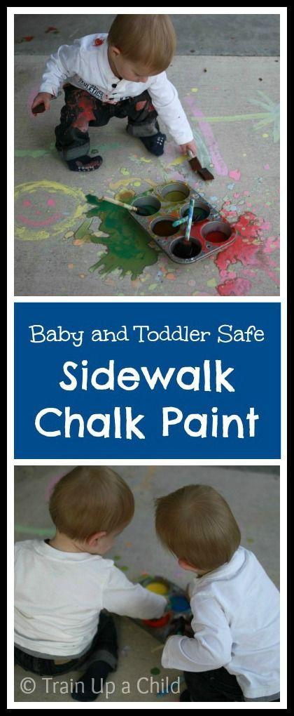Sidewalk Chalk Paint ~ Learn Play Imagine   – Kids craft