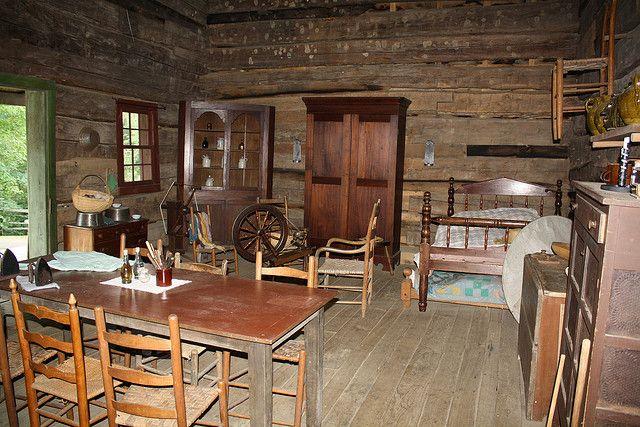 Inside A Log Cabin Cabin Interiors Cabins Cottages