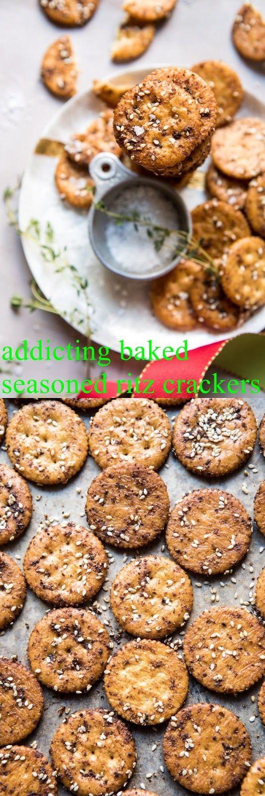 addicting baked seasoned ritz crackers Say howdy t…
