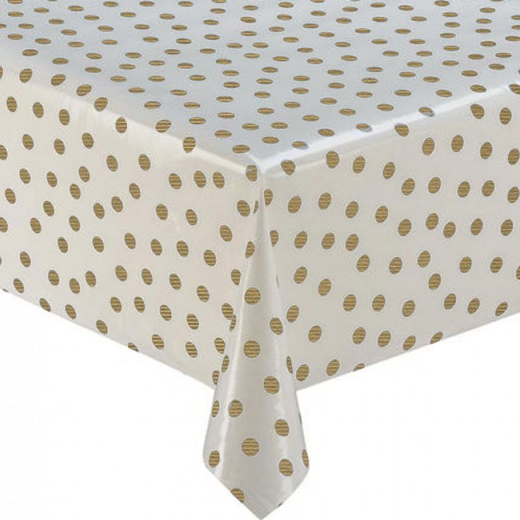tafelzeil rol 11m wit met gouden stippen (10022 gd) MixMamas, tafelzeil, Spaanse schoenen, bonfim gelukslint, luiertassen, oilcloth, wachstuch