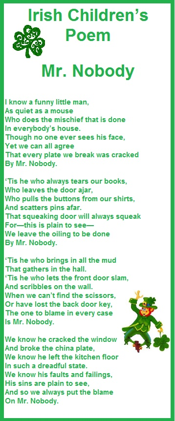 Mr Nobody Poem - so that's who steals the socks!!