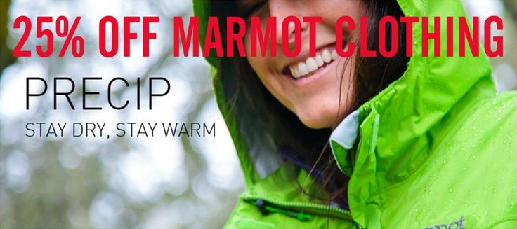 25% off all Marmot gear 25.7 - 31.7 #saletime FINISHED!