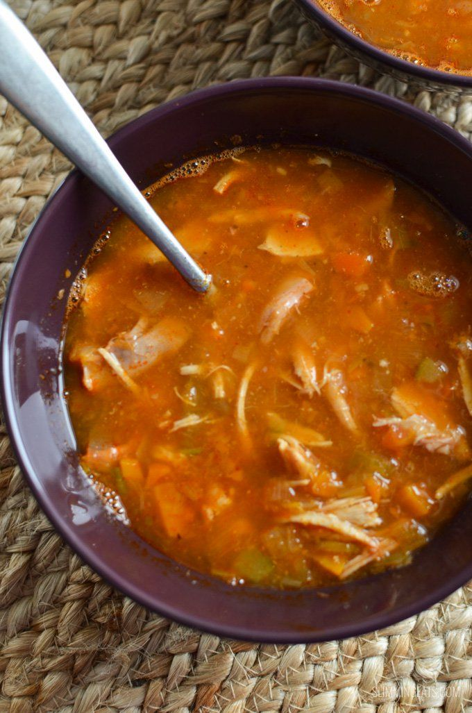 Sit down and enjoy a delicious bowl of this syn free Chicken and Vegetable soup - amazingly fresh and healthy and plenty of speed vegetables.
