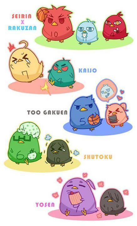 Kuroko birds! Kawaii!!!