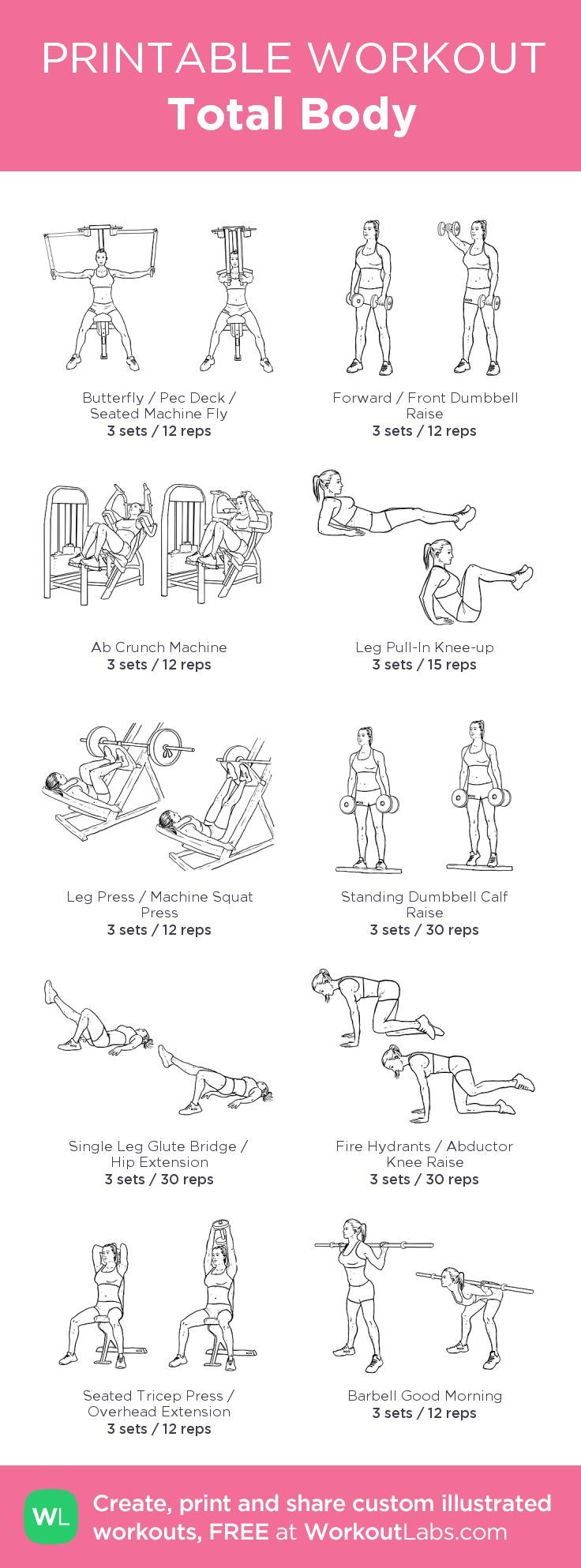 fitness exercises at home pdf