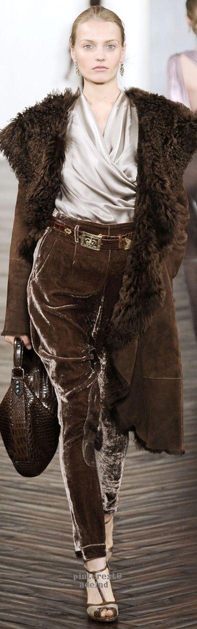 Ralph Lauren brown chocolate runway style -fetedujuliet.com