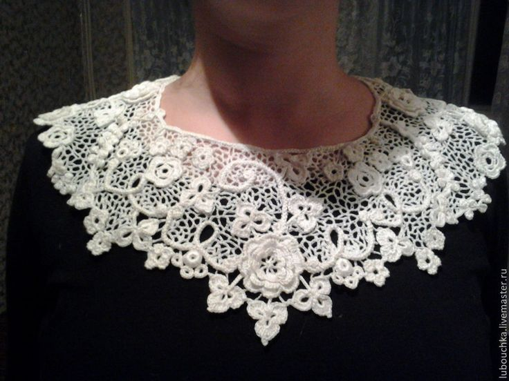 Irish Lace Knitting Pattern : 409 best images about Cuellos a Crochet on Pinterest Collar pattern, Patron...