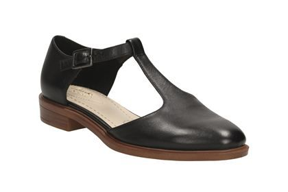 Clarks Taylor Palm - Black Leather - Womens Casual Shoes | Clarks