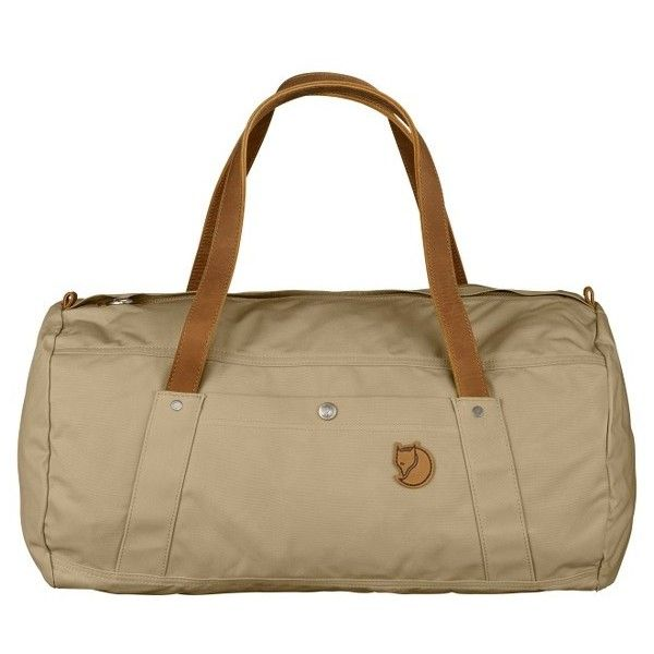 Fjallraven 'Duffel No.4' Water Resistant Duffel Bag (1.995.450 IDR) ❤ liked on Polyvore featuring bags, luggage and sand