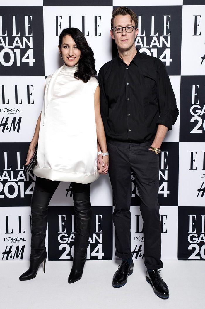 ELLE-galan 2014. Marina Kereklidou och Mikael Elmenbeck.