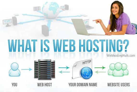 Explains Website hosting vs. Domain Name registration