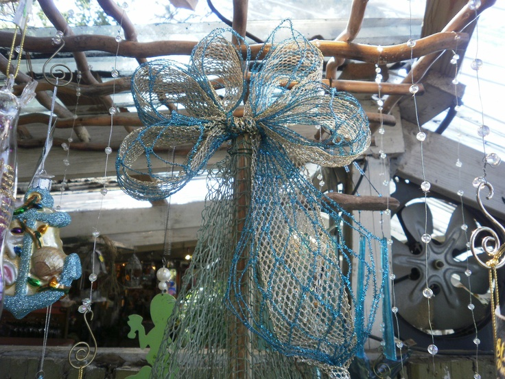 Nautical Bow, Beach Christmas Tree Topper!