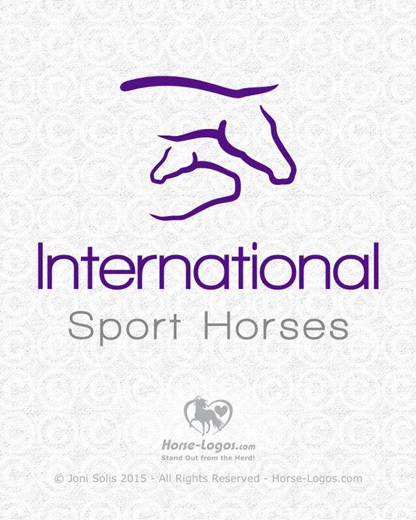 Customized horse logo design for International Sport Horses - Logo by Joni Solis of Horse-Logos.com