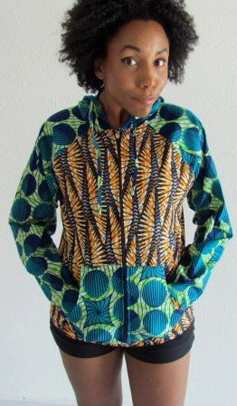 African Print Mix Summer Hoodie by ifenkili on Etsy