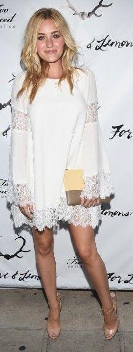AJ Michaika In White Festival Dress |ForLoveAndLemons