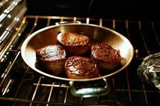 Bacon-wrapped filet mignon. I combined this recipe with this one http://www.lifesambrosia.com/2009/10/filet-mignon-with-peppercorn-sauce-recipe.html for filet mignon with peppercorn sauce. Didn't have beef broth, substituted soy sauce and chicken broth. A little salty, but still delicious. Didn't have shallots, used green onions instead.
