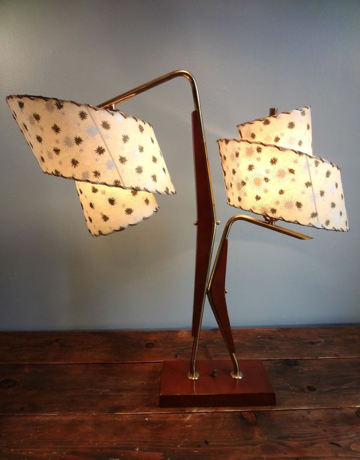 STUNNING Vtg 1950s Retro MID CENTURY Modern Eames Era ATOMIC Majestic TABLE Lamp